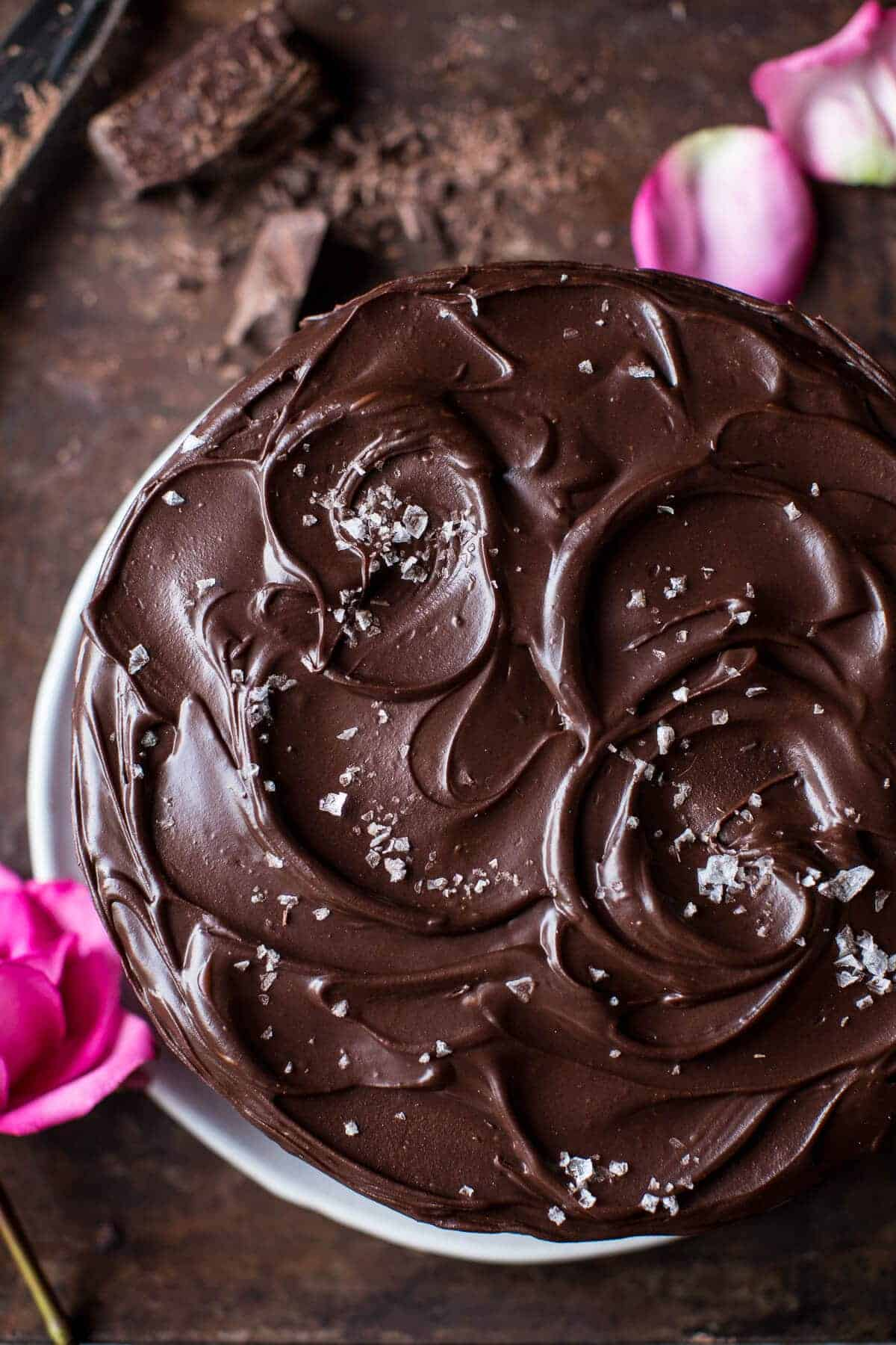 Vegan Chocolate Cake with Creamy Chocolate Almond Butter Buttercream | halfbakedharvest.com @hbharvest