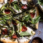 Broccoli Rabe Burrata Pizza.