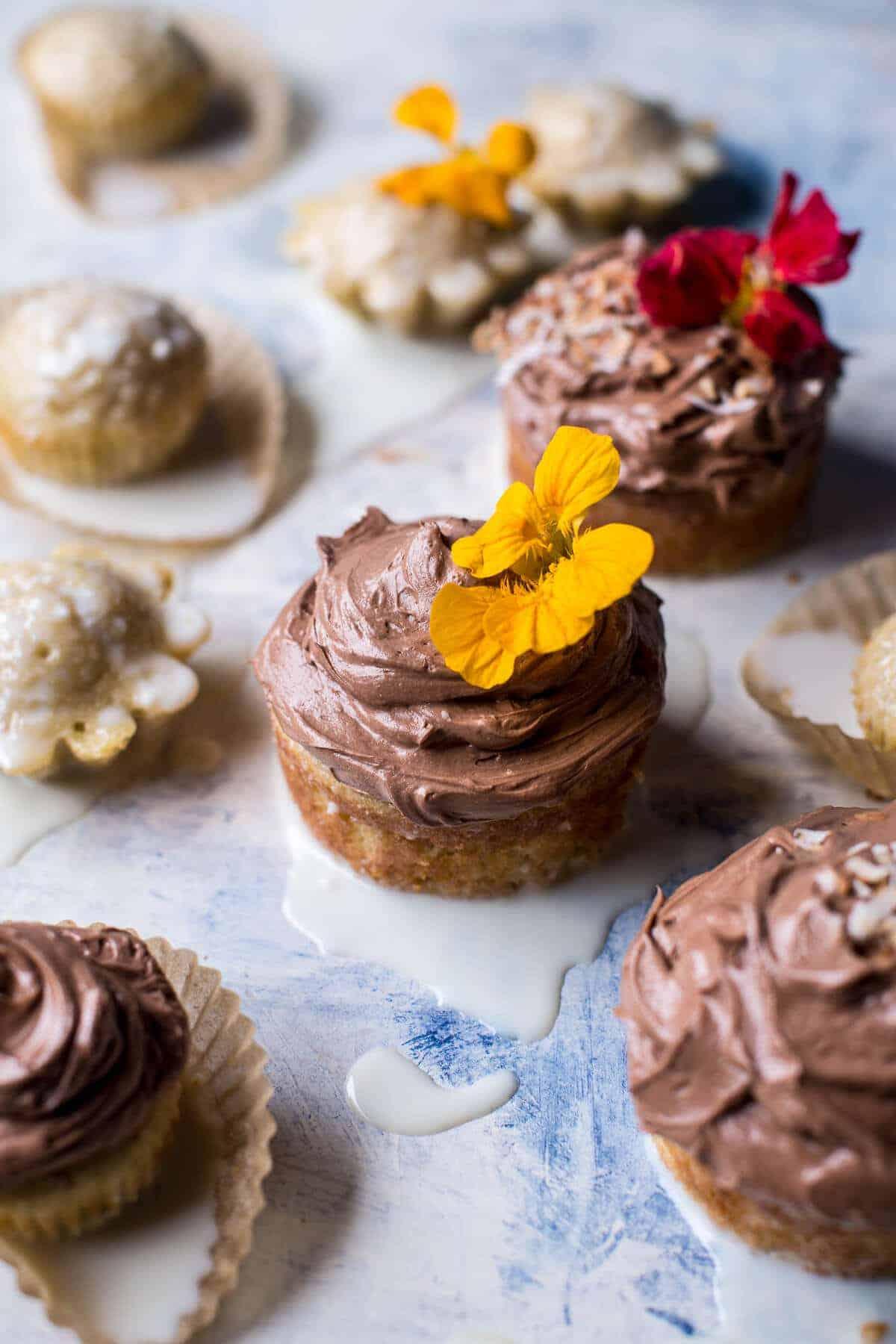 Coconut Banana 3-Milk Cupcakes with Nutella Buttercream.