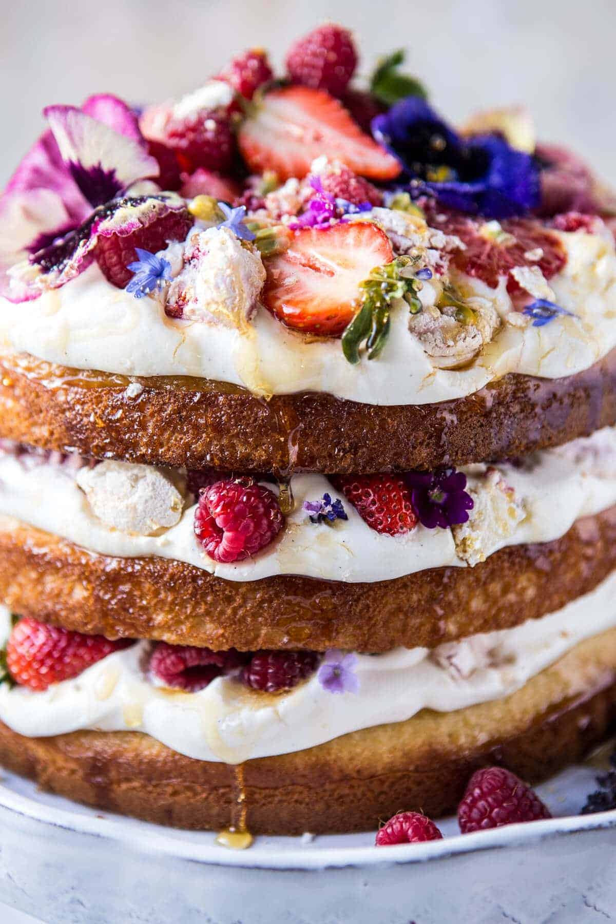 Coconut Eton Mess Cake With Whipped Ricotta Cream Video