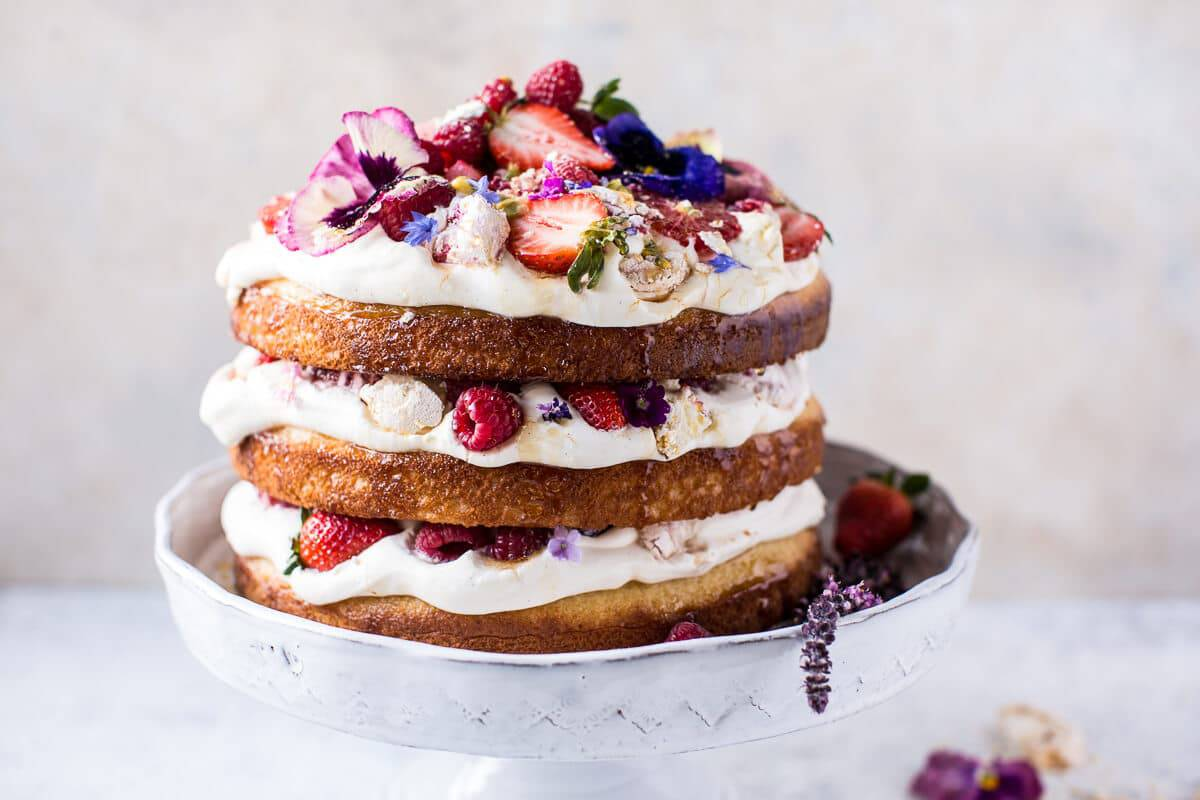 Coconut Eton Mess Cake with Whipped Ricotta Cream | halfbakedharvest ...
