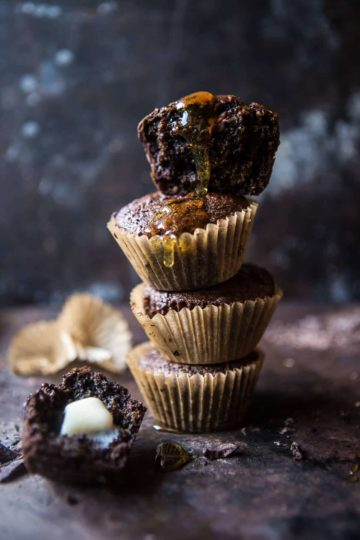 Double Chocolate Irish Tea Infused Oat Muffins.