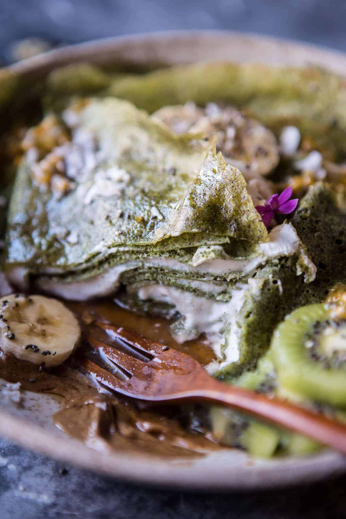 Green Banana Crepes with Whipped Greek Yogurt | halfbakedharvest.com @hbharvest