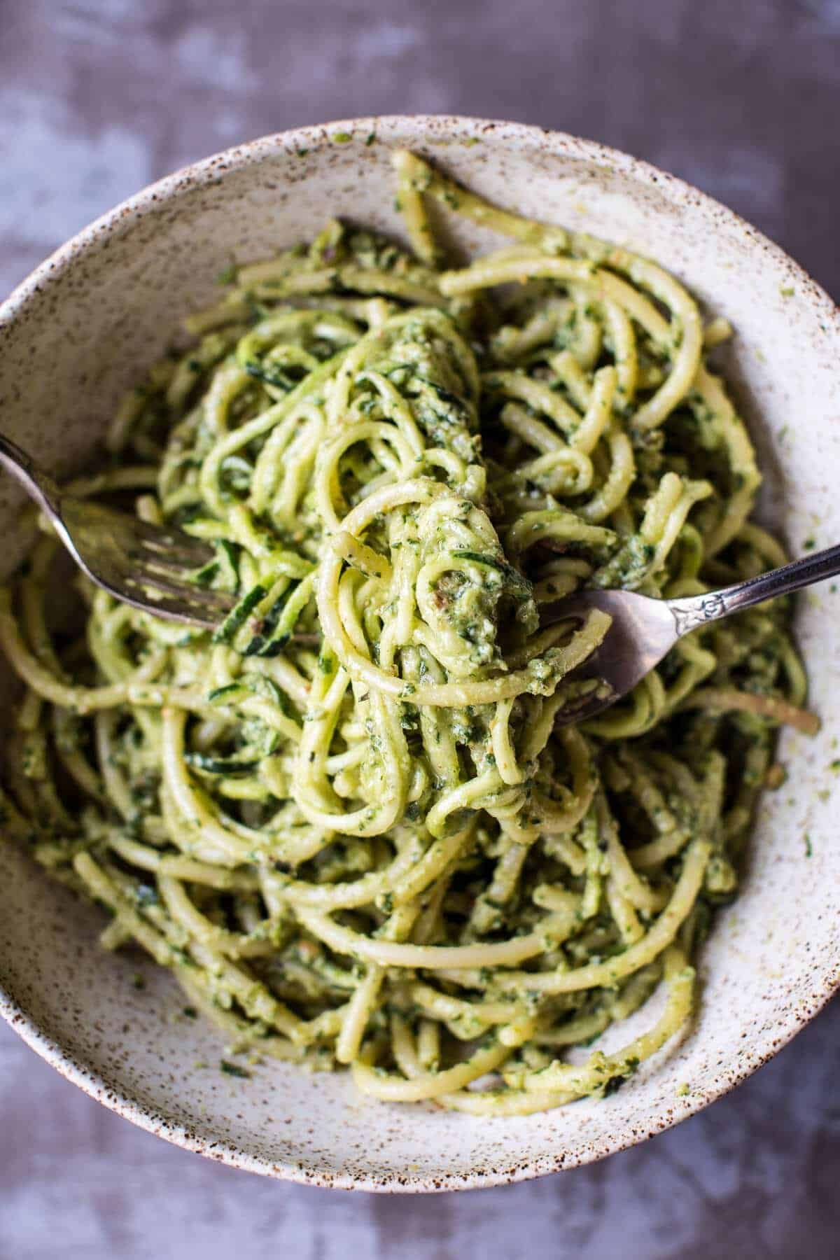 green goddess zucchini pasta with fried halloumi half baked harvest. Black Bedroom Furniture Sets. Home Design Ideas