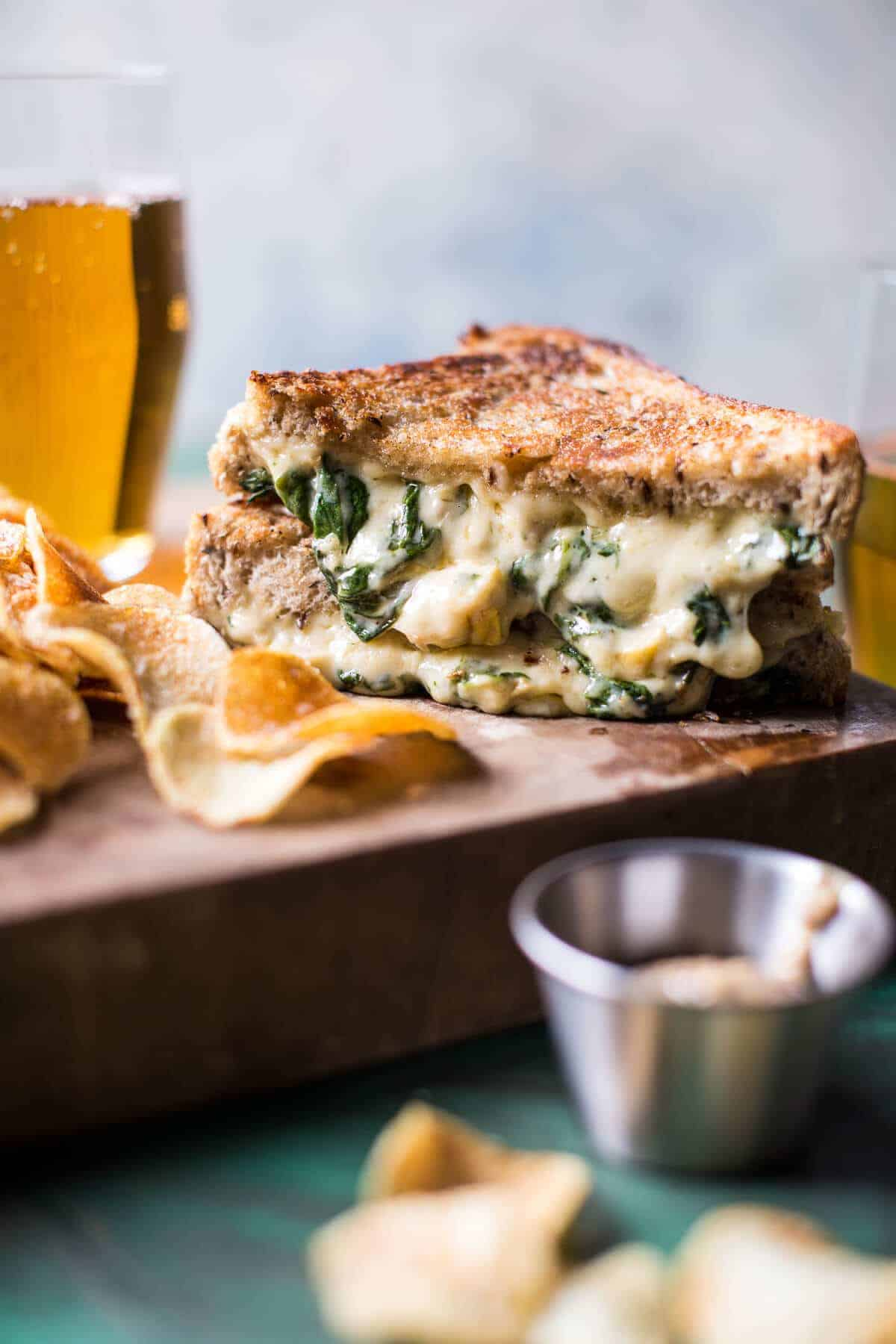 Irish Pub Spinach and Artichoke Melt | halfbakedharvest.com @hbharvest