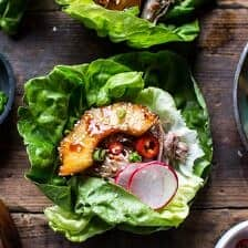 Korean Pineapple Pork Lettuce Wraps.