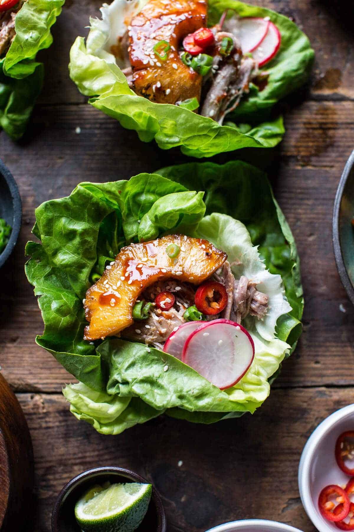 Korean Pineapple Pork Lettuce Wraps | halfbakedharvest.com @hbharvest