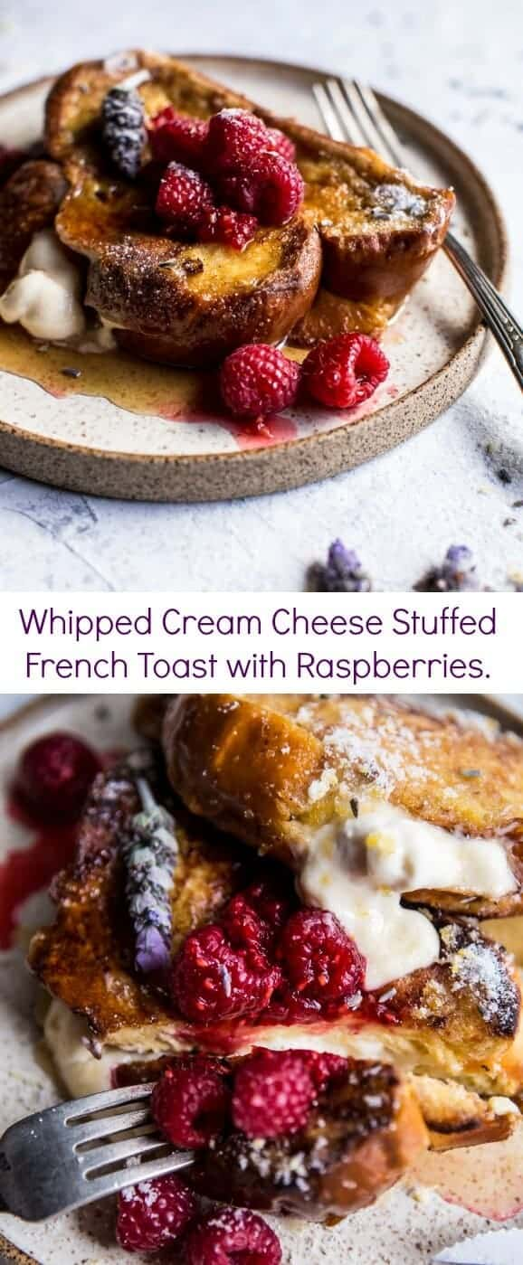 Whipped Cream Cheese Stuffed French Toast with Raspberries | halfbakedharvest.com @hbharvest
