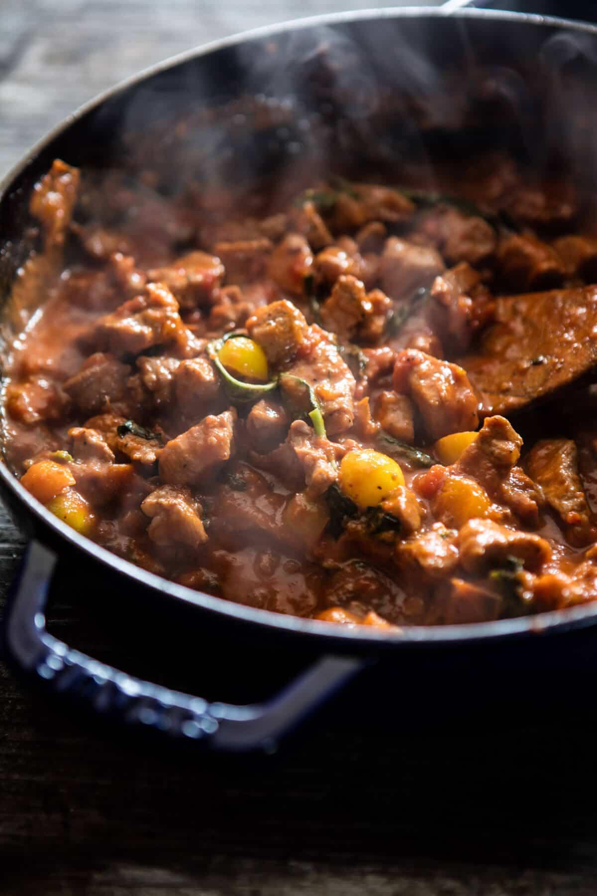 30 Minute Garlic Butter Pasta with Herbed Pork Bolognese | halfbakedharvest.com @hbharvest