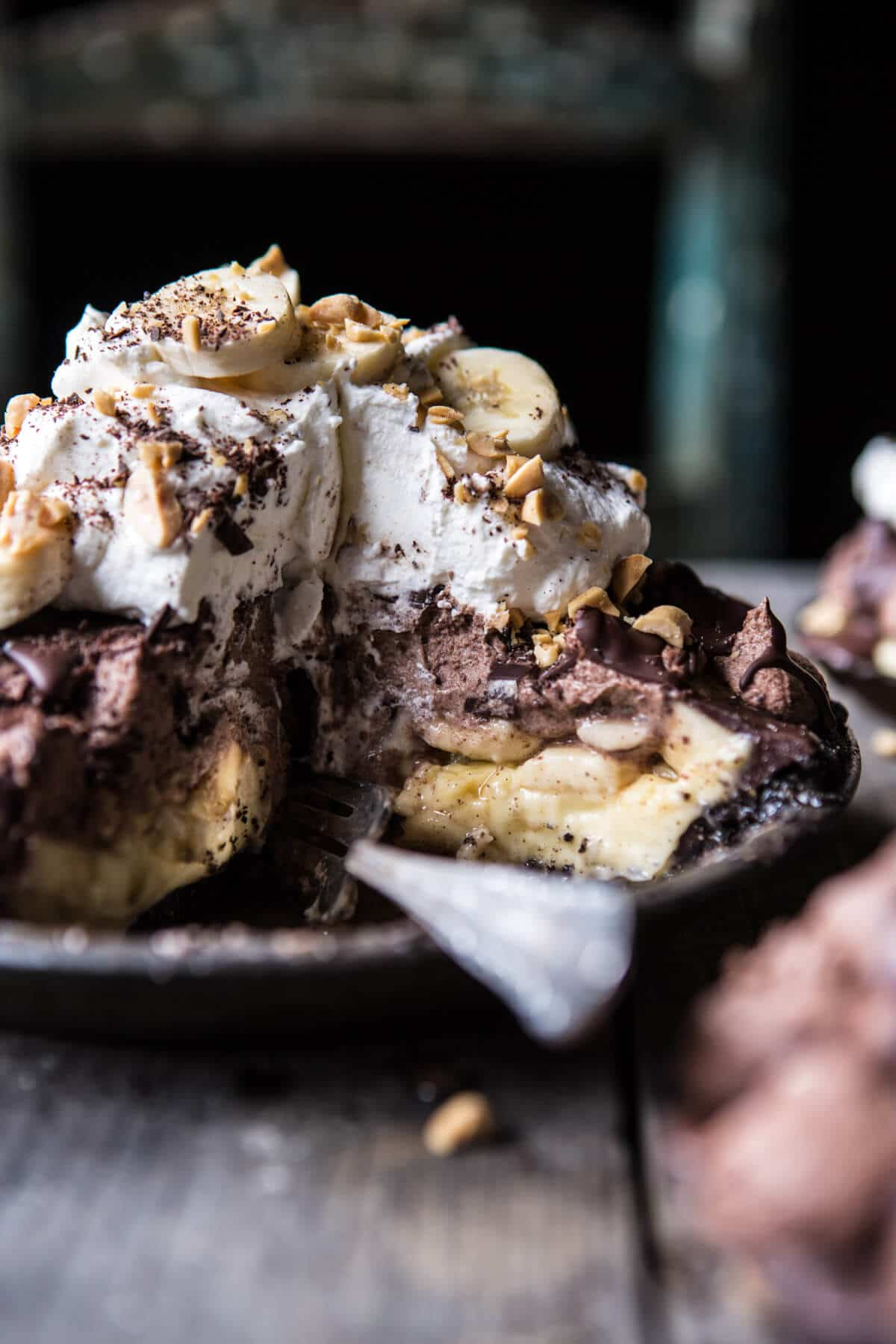 Banana Cream Pie…with Chocolate and Peanuts | halfbakedharvest.com @hbharvest