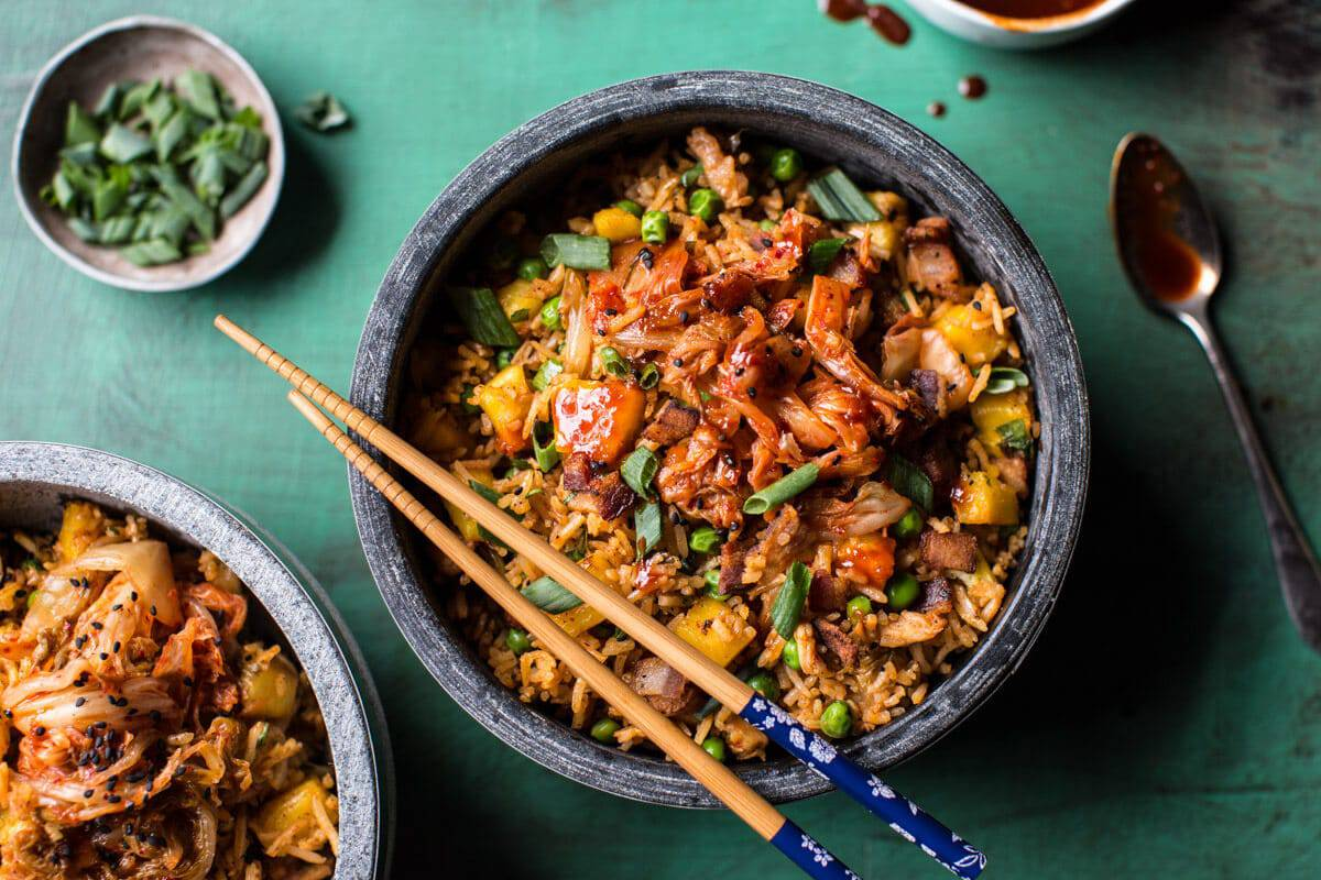 Kimchi Chicken and Bacon Fried Rice | halfbakedharvest.com @hbharvest