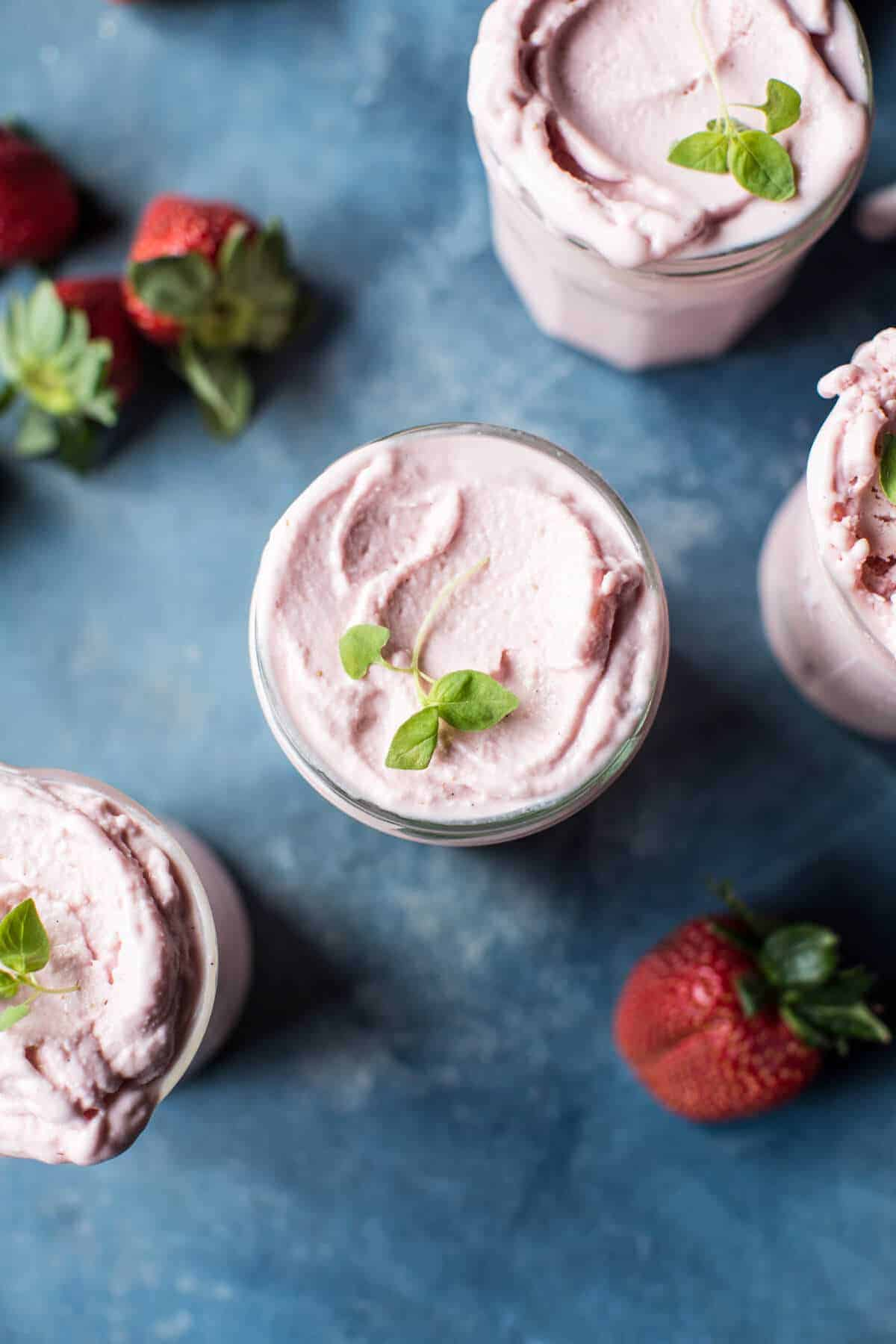 Strawberry Rosehip Frozen Yogurt | halfbakedharvest.com @hbharvest
