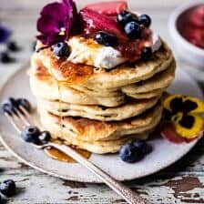 Blueberry Almond Pancakes.