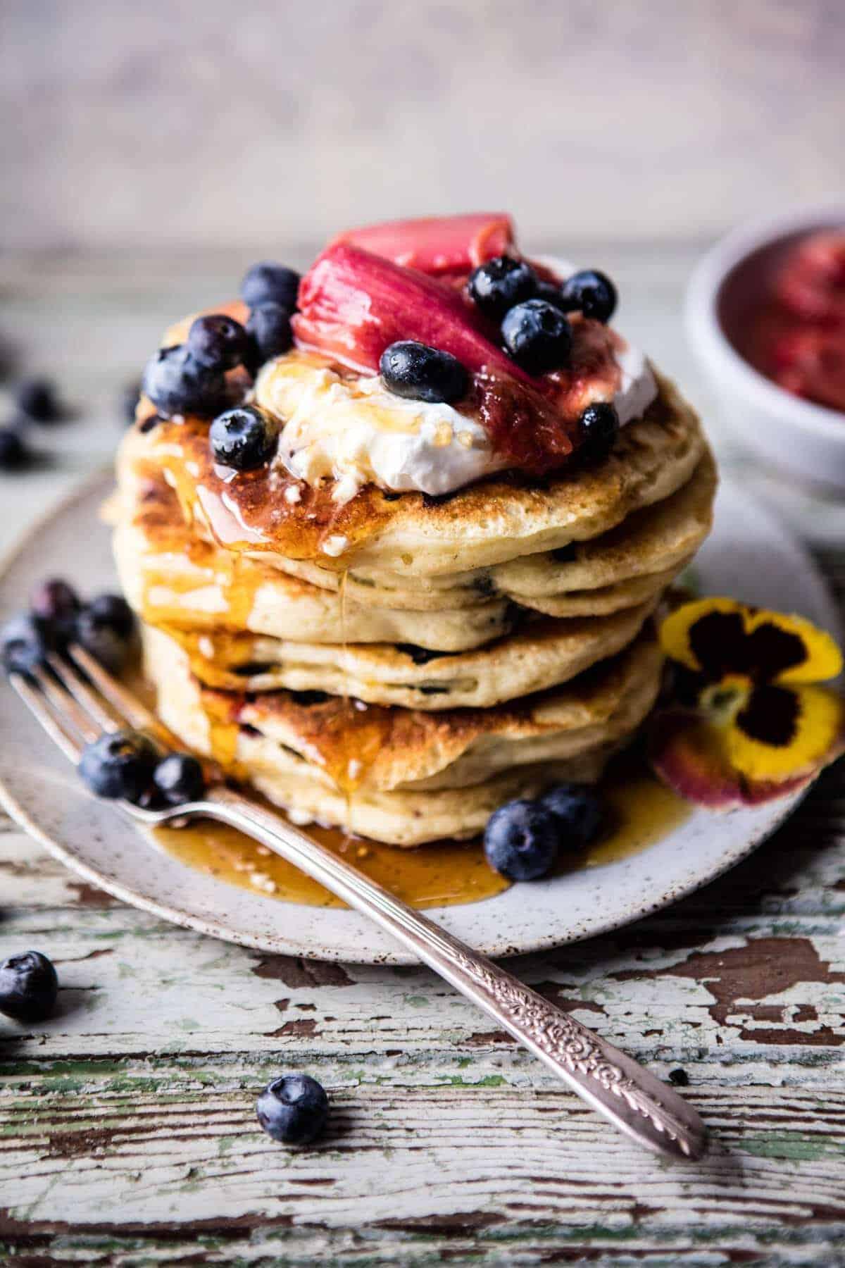 Blueberry Almond Pancakes | halfbakedharvest.com @hbharvest