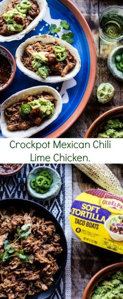 Crockpot Mexican Chili Lime Chicken | halfbakedharvest.com @hbharvest