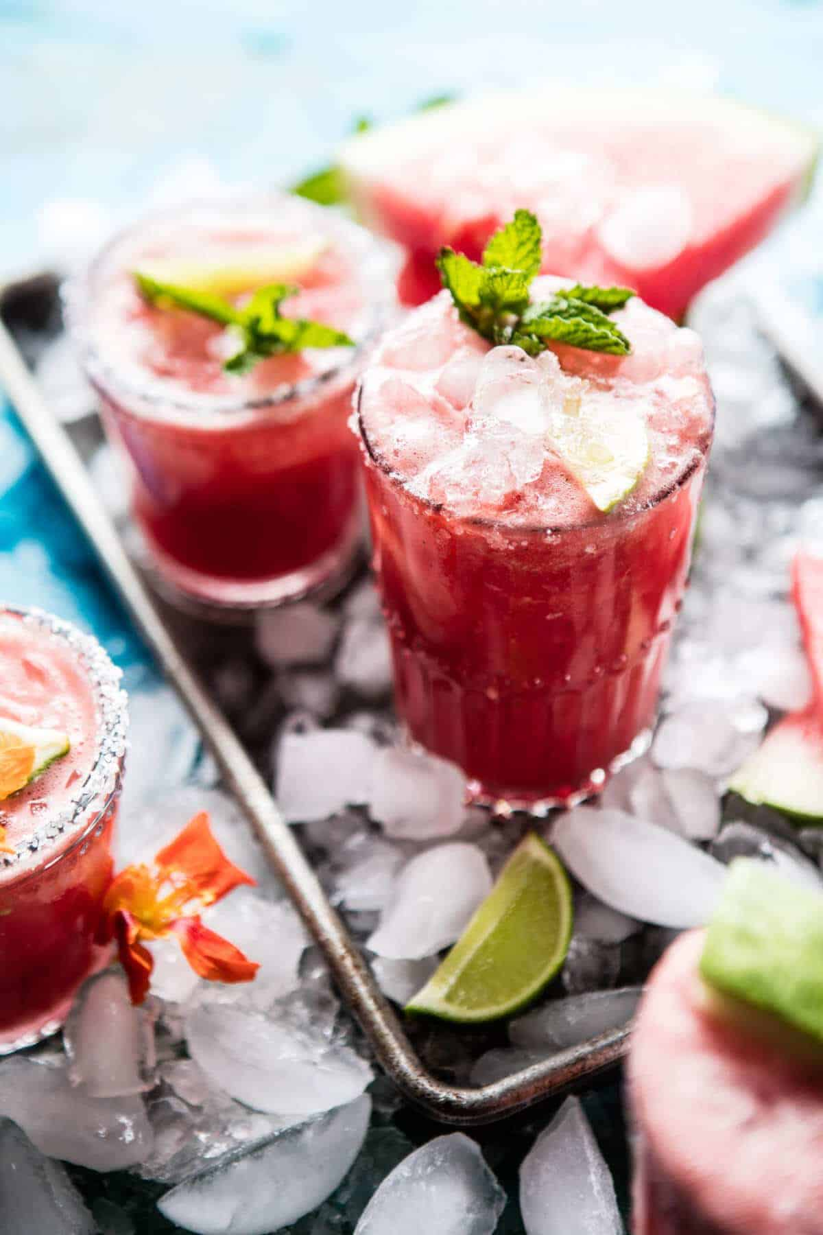 Minty Watermelon Cucumber Margaritas | halfbakedharvest.com @hbharvest
