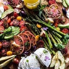 Panzanella Style Caprese Asparagus Salad | halfbakedharvest.com @hbharvest