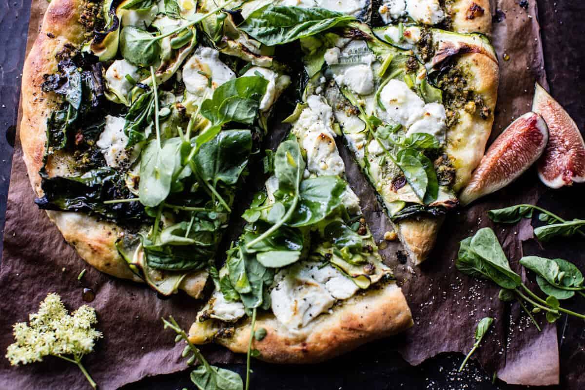 Garden Greens Goddess Pizza | halfbakedharvest.com @hbharvest