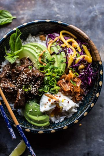 Korean Bulgogi BBQ Steak Bowls + Video.