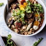 Mediterranean Chicken and Farro Salad.