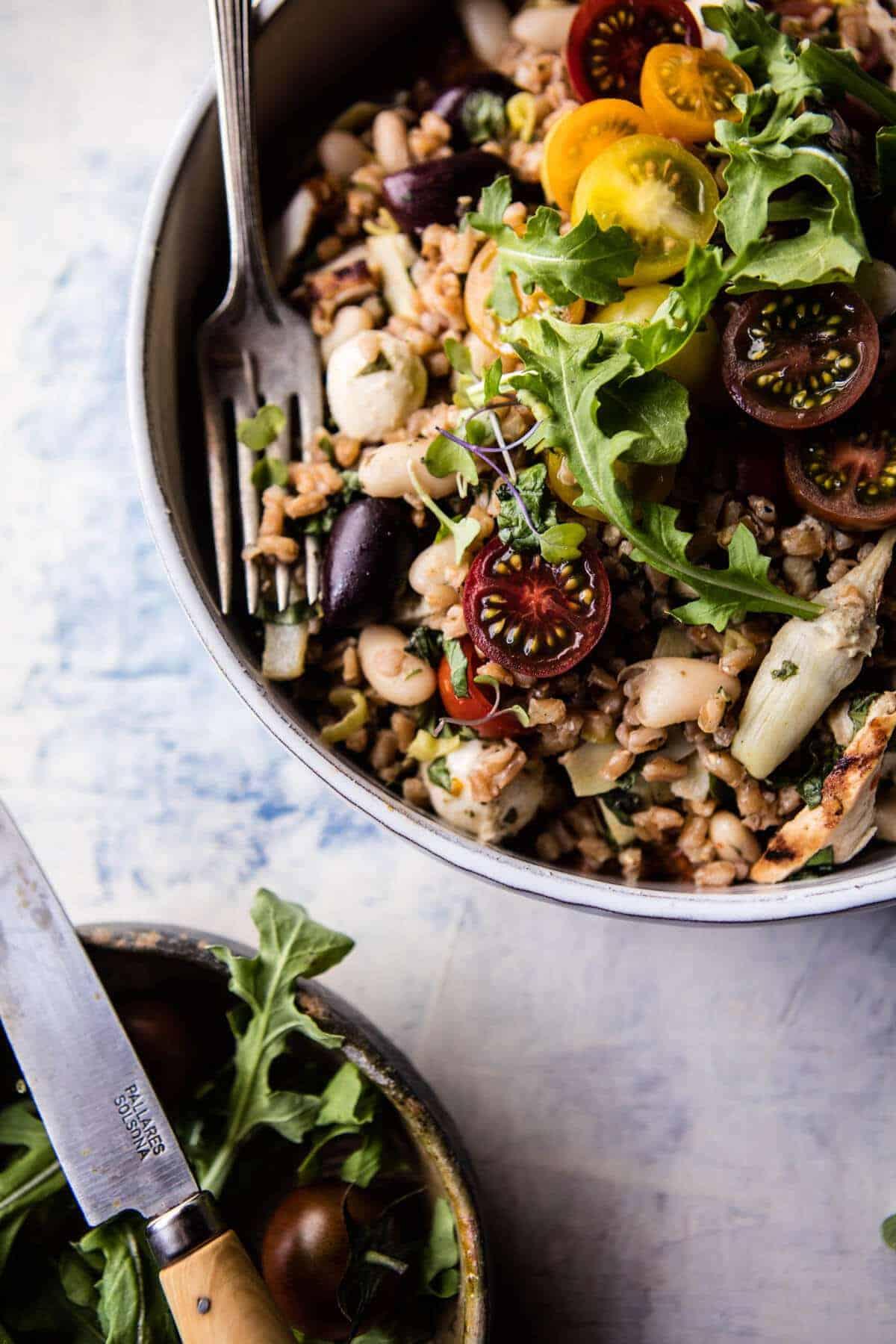 Mediterranean Chicken and Farro Salad | halfbakedharvest.com @hbharvest