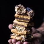 No-Bake Triple Decker Peanut Butter S'mores Bars.