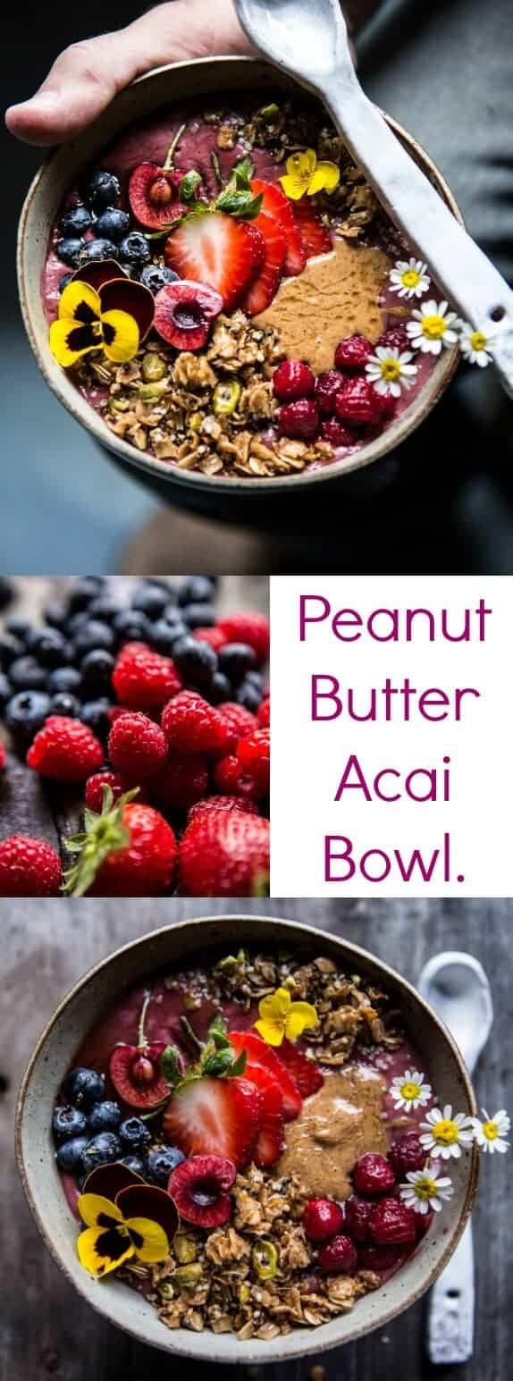 Peanut Butter Acai Bowl | halfbakedharvest.com @hbharvest