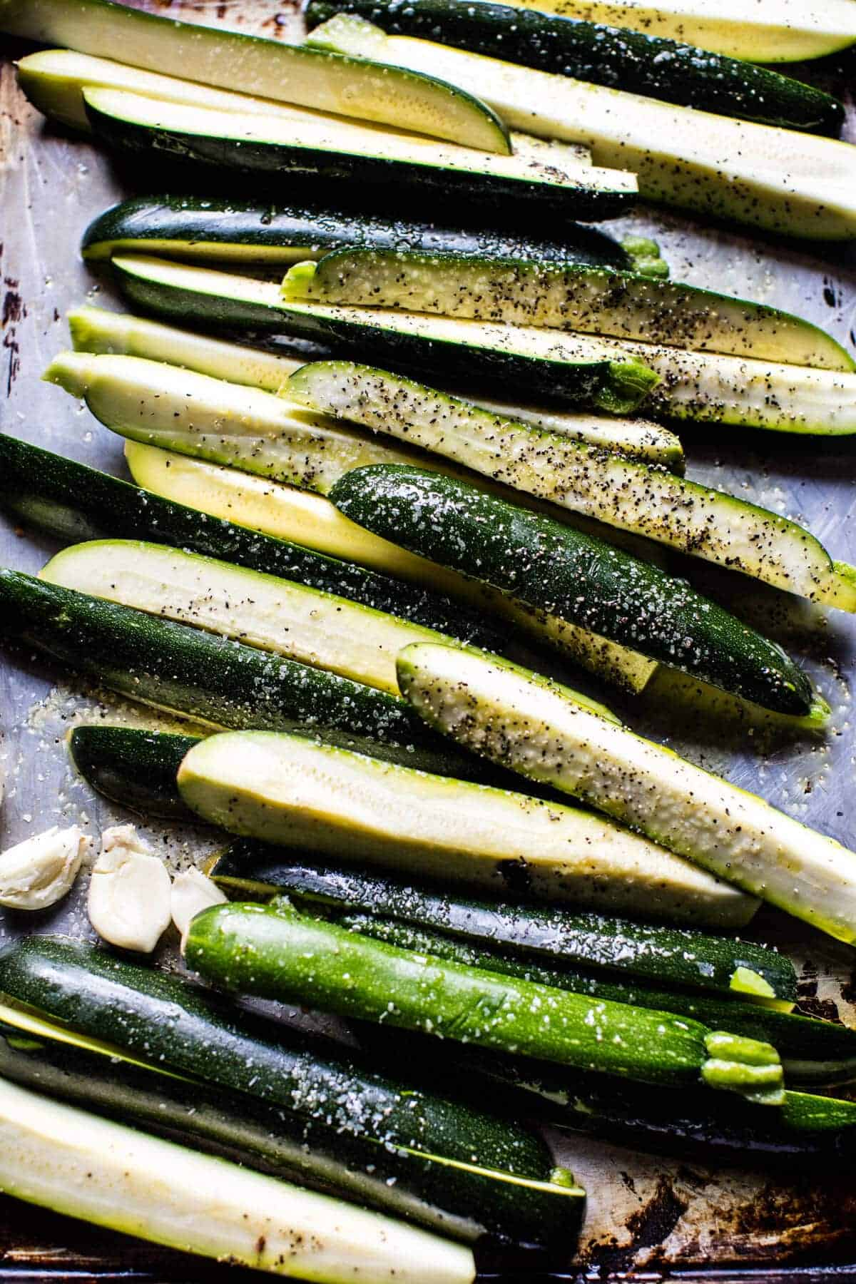 Roasted Zucchini With Garlic Recipe — Dishmaps