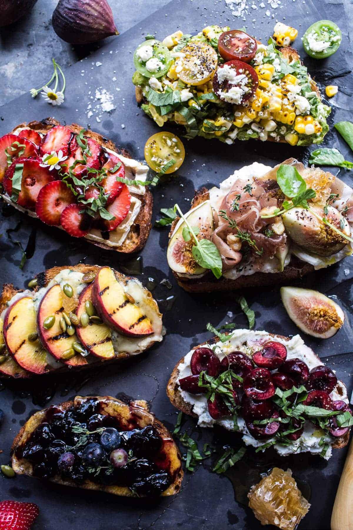 Summer Crostini 6 Ways | halfbakedharvest.com @hbharvest