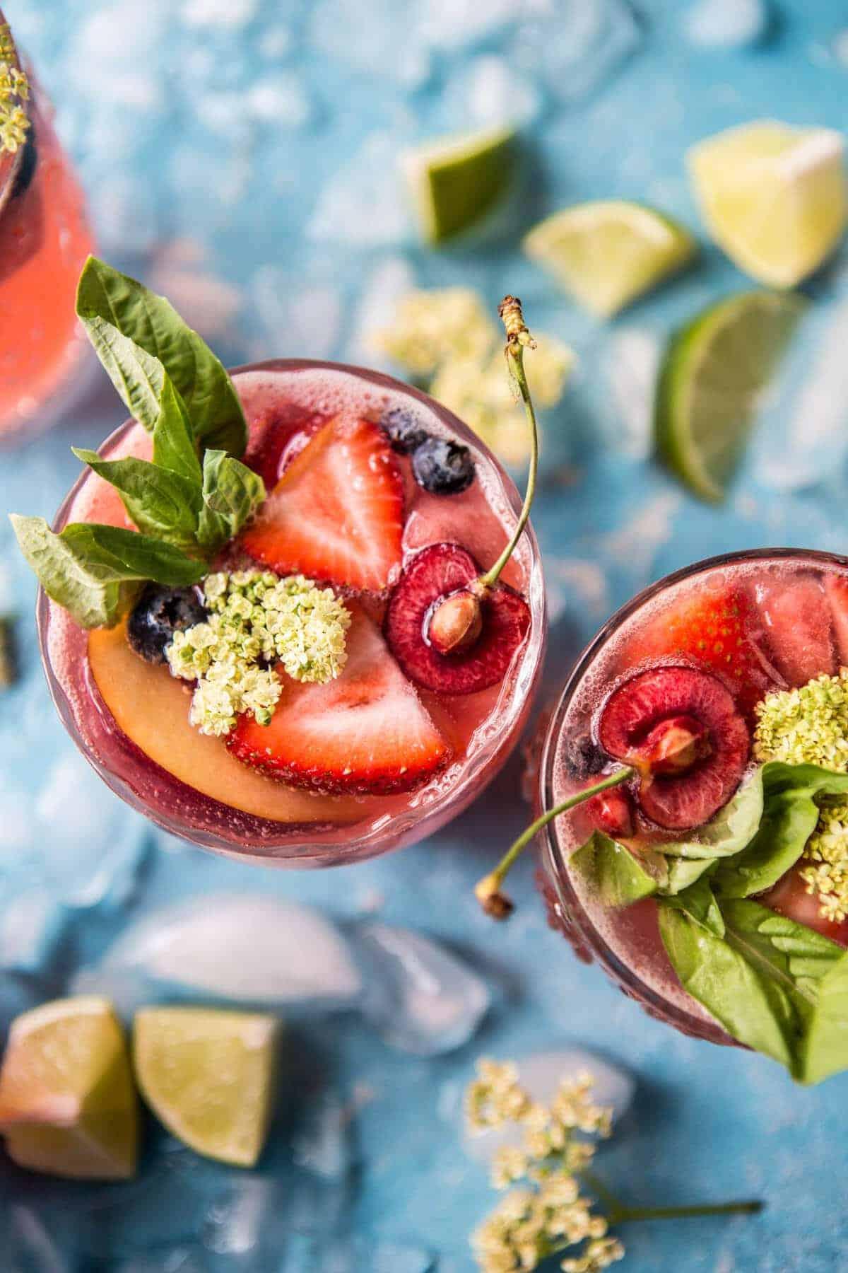 Summertime Rose Tequila Sangria | halfbakedharvest.com @hbharvest