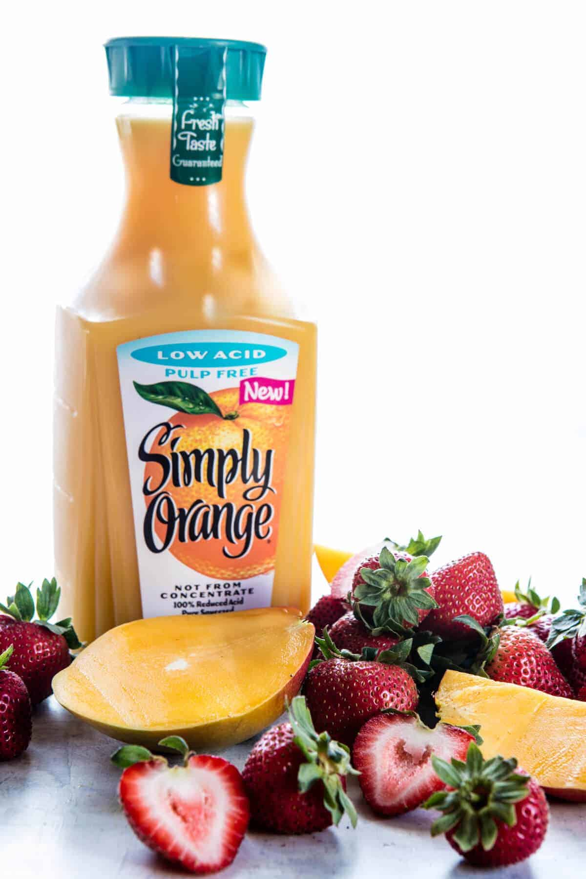 Three Ingredient Strawberry Mango Popsicles   halfbakedharvest.com @hbharvest