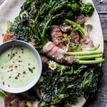 Bacon Wrapped Parmesan Broccoli Rabe.