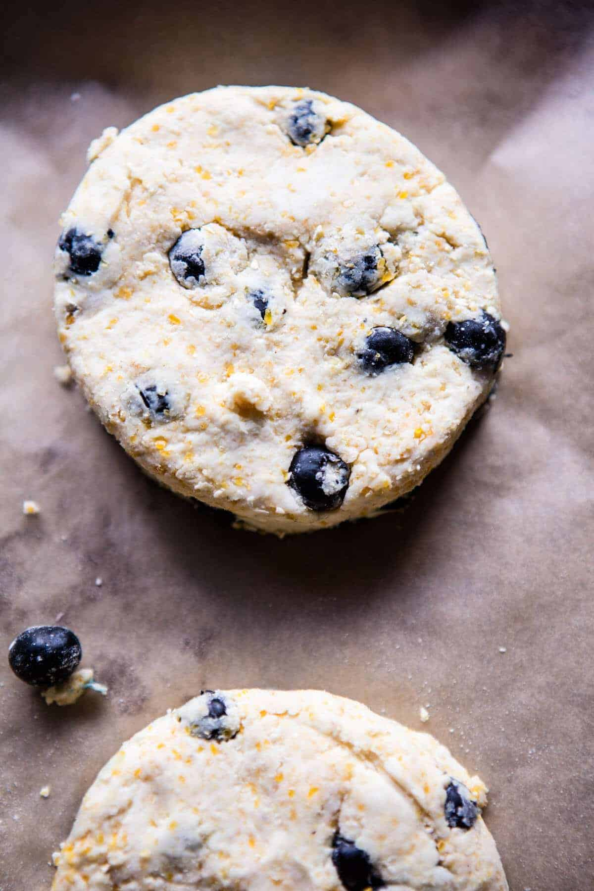 Blueberry Brie Cornbread Biscuits with Honey Butter | @hbharvest