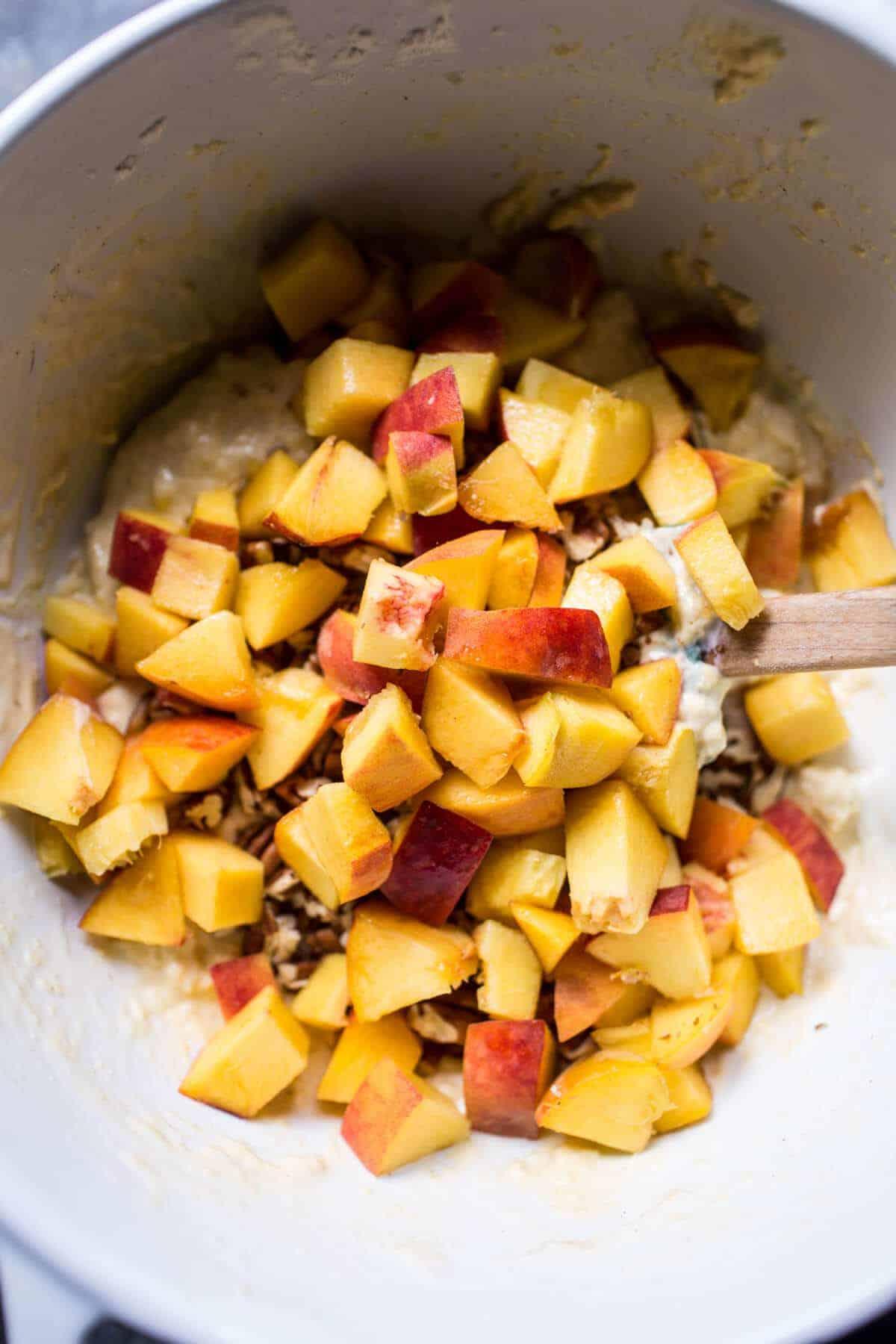 Bourbon Glazed Peach Fritters | halfbakedharvest.com @hbharvest