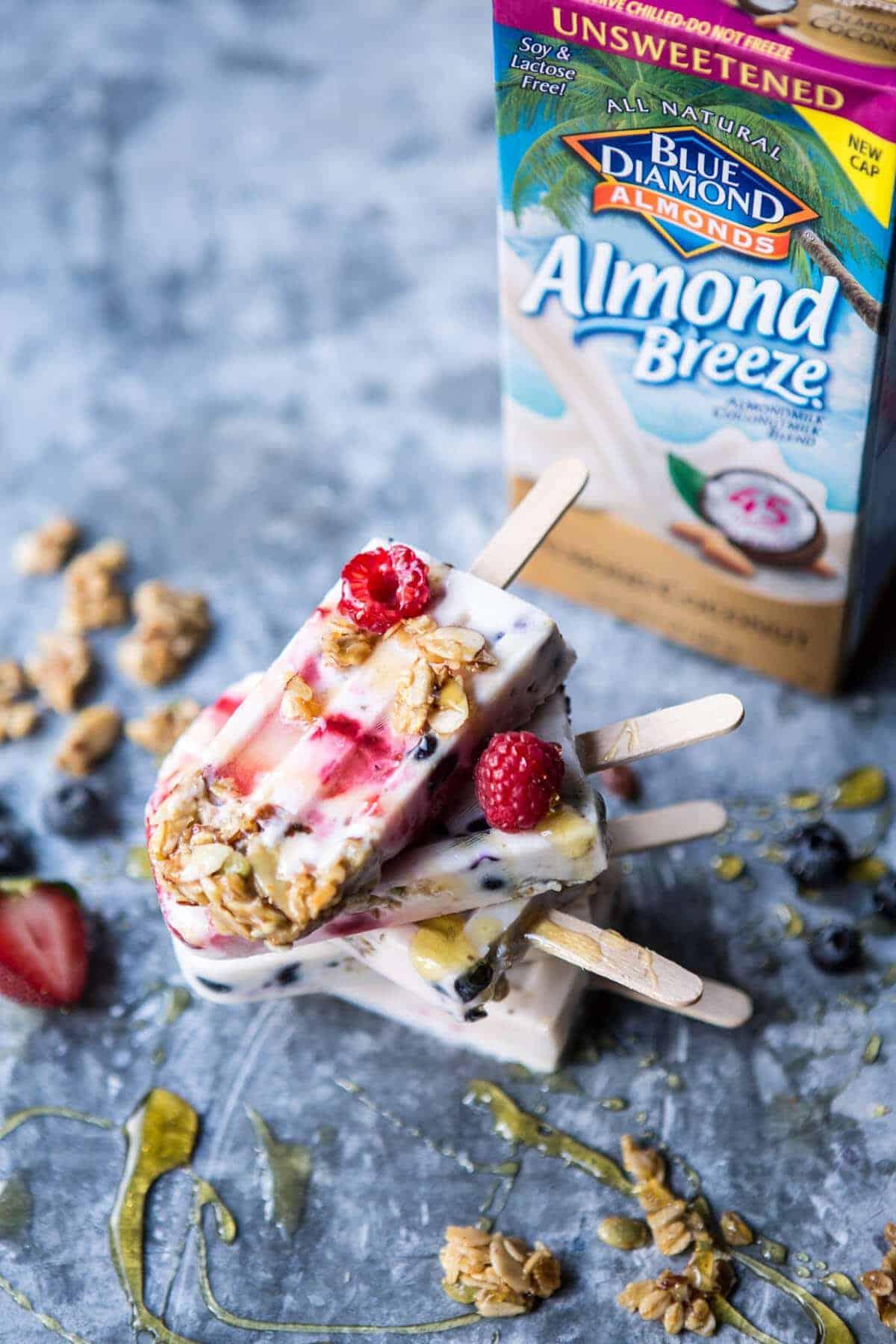 Creamy Coconut Almond Breakfast Pops | halfbakedharvest.com @hbharvest