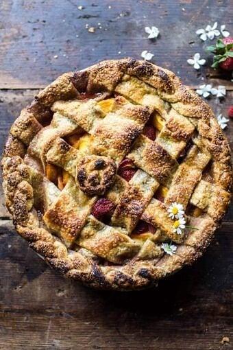 Honey Strawberry Peach Pie | halfbakedharvest.com @hbharvest