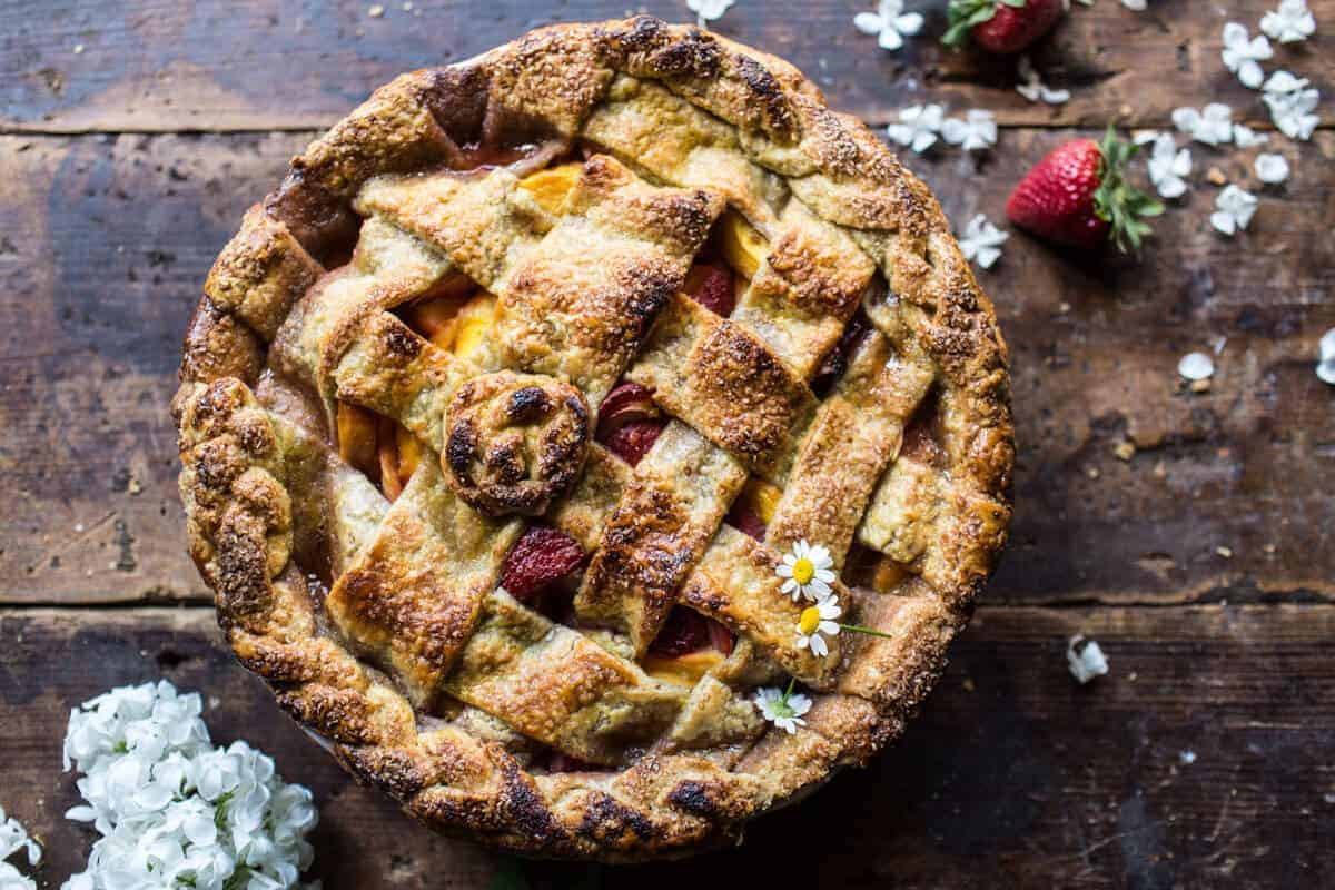 Honey Strawberry Peach Pie | halfbakedharvest.com @hbharvest
