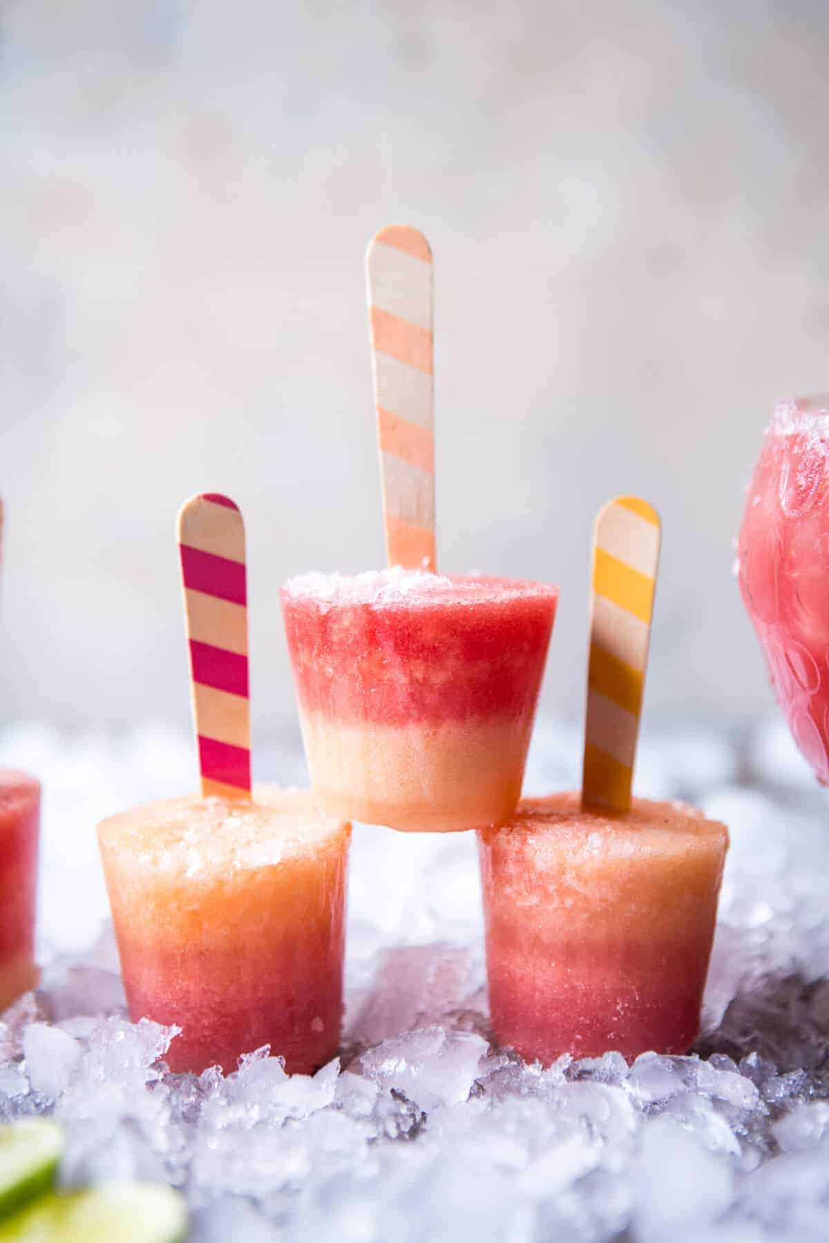 Frozen Melon-Margarita Pops Recipe — Dishmaps