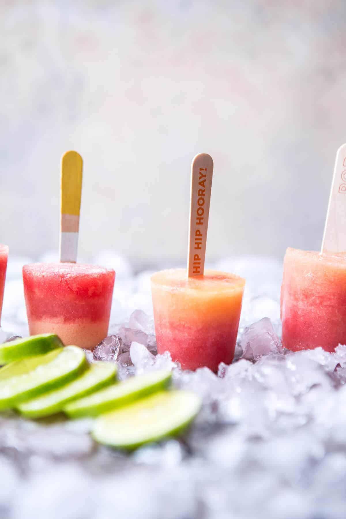 Melon Lemonade Margarita Popsicles | halfbakedharvest.com @hbharvest