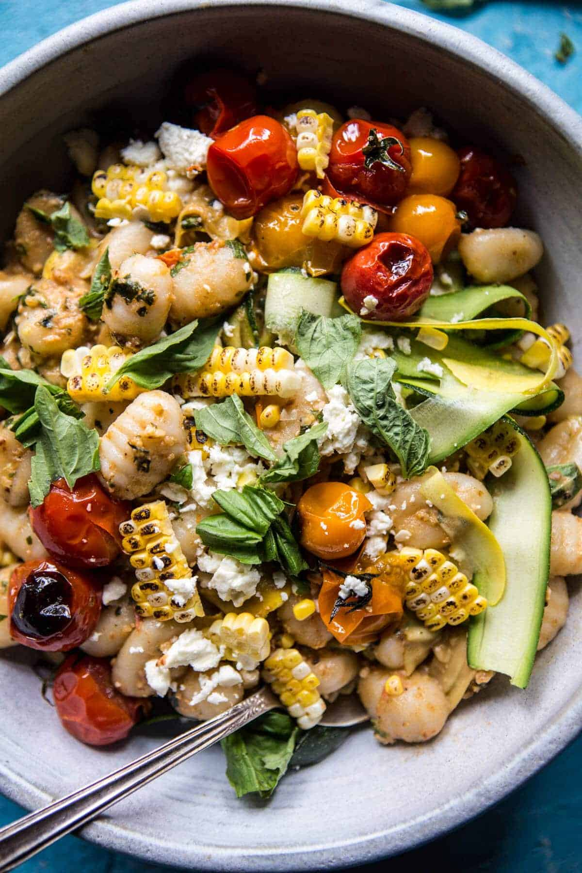 Simple Summer Tomato Pesto and Grilled Corn Gnocchi | halfbakedharvest.com @hbharvest