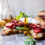 Strawberry, Basil and Crispy Prosciutto Breakfast Sandwich | halfbakedharvest.com @hbharvest