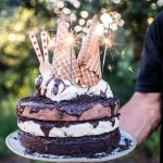 Triple Layer Chocolate Fudge Ice Cream Cake | halfbakedharvest.com @hbharvest