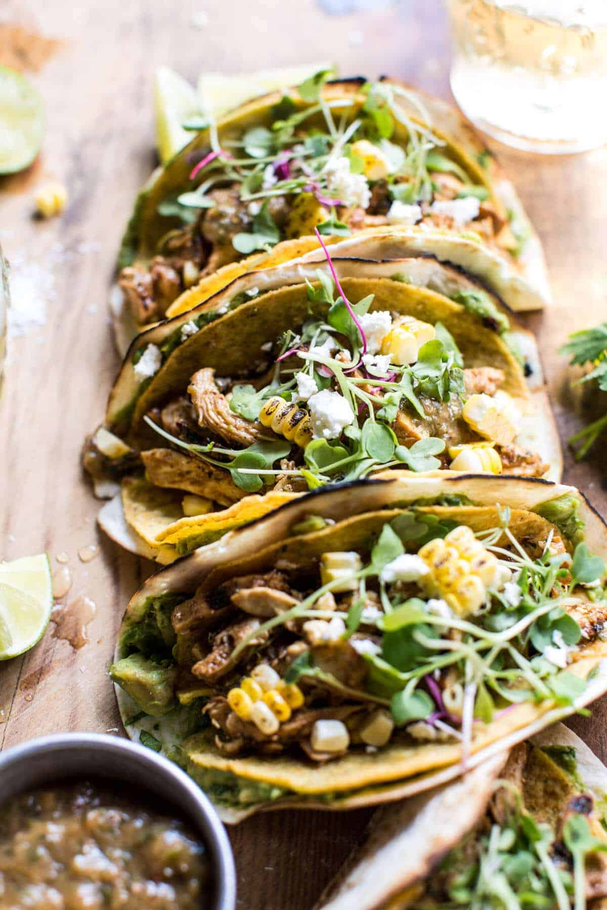 Adobo-Marinated Chicken Tacos Recipe — Dishmaps