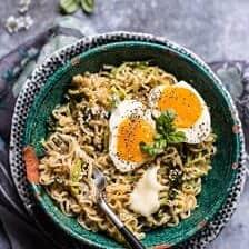 15 Minute Garlic Butter Ramen Noodles.
