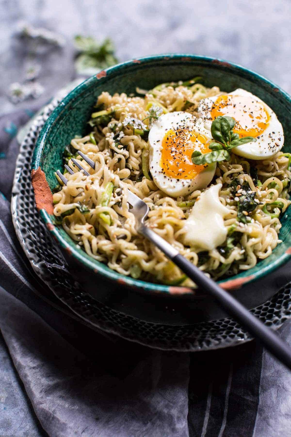 15 Minute Garlic Butter Ramen Noodles | halfbakedharvest.com @hbharvest