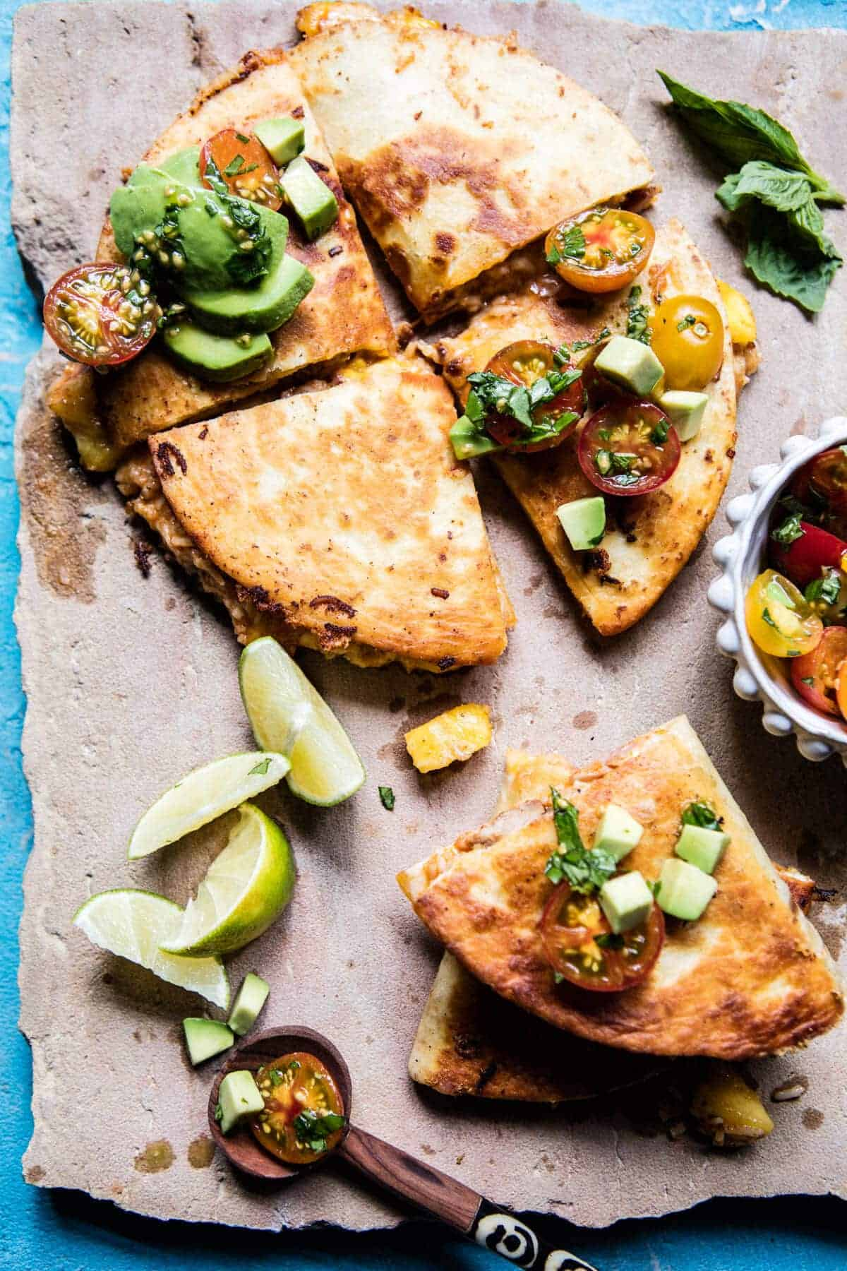 Applewood Smoked Mango Pork Quesadillas.