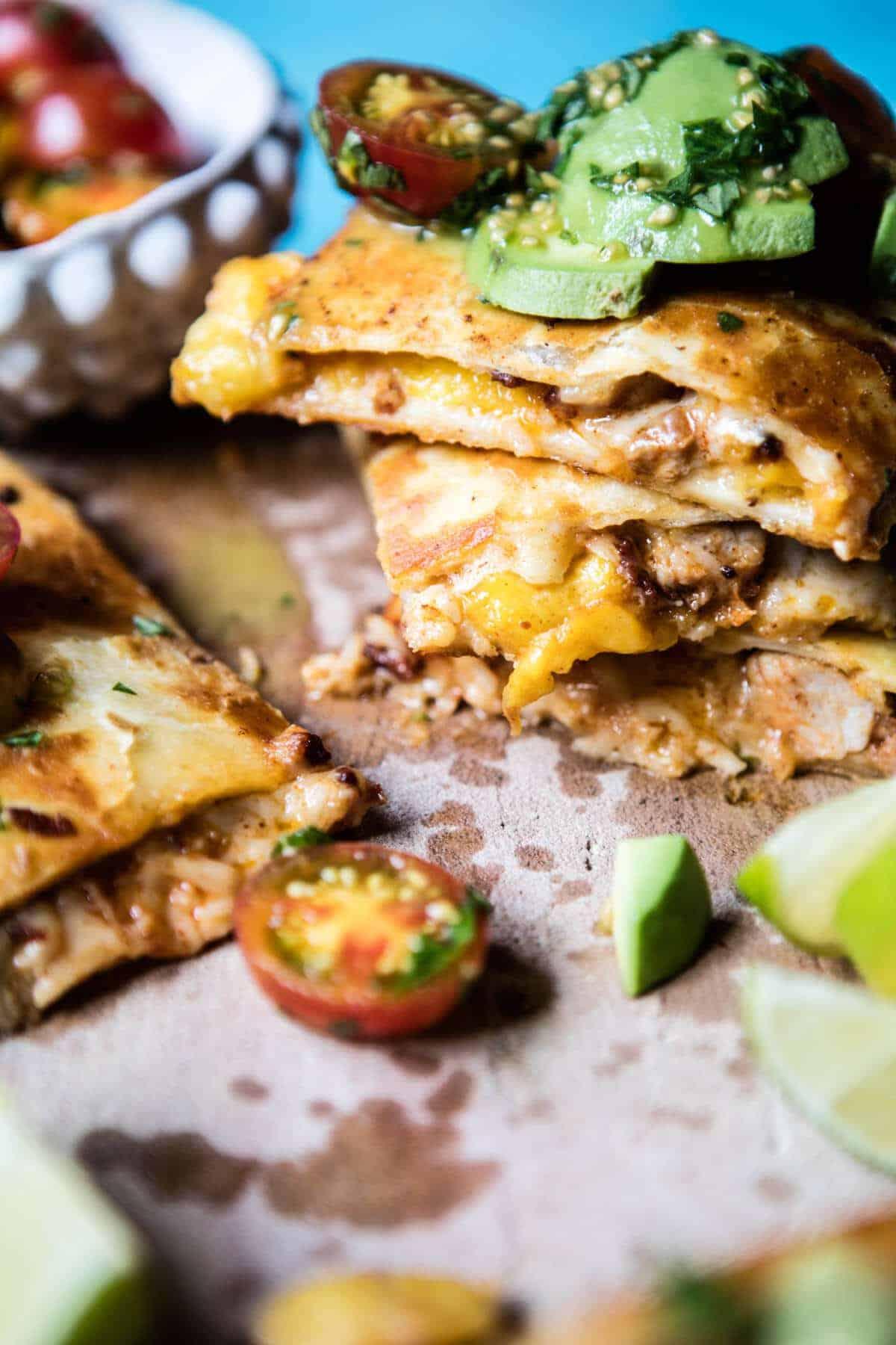 Applewood Smoked Mango Pork Quesadilla | halfbakedharvest.com @hbharvest