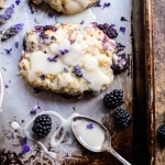 Blackberry Lavender White Chocolate Scones.