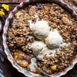 Brown Sugar Caramel Oatmeal Cookie Peach Crisp.