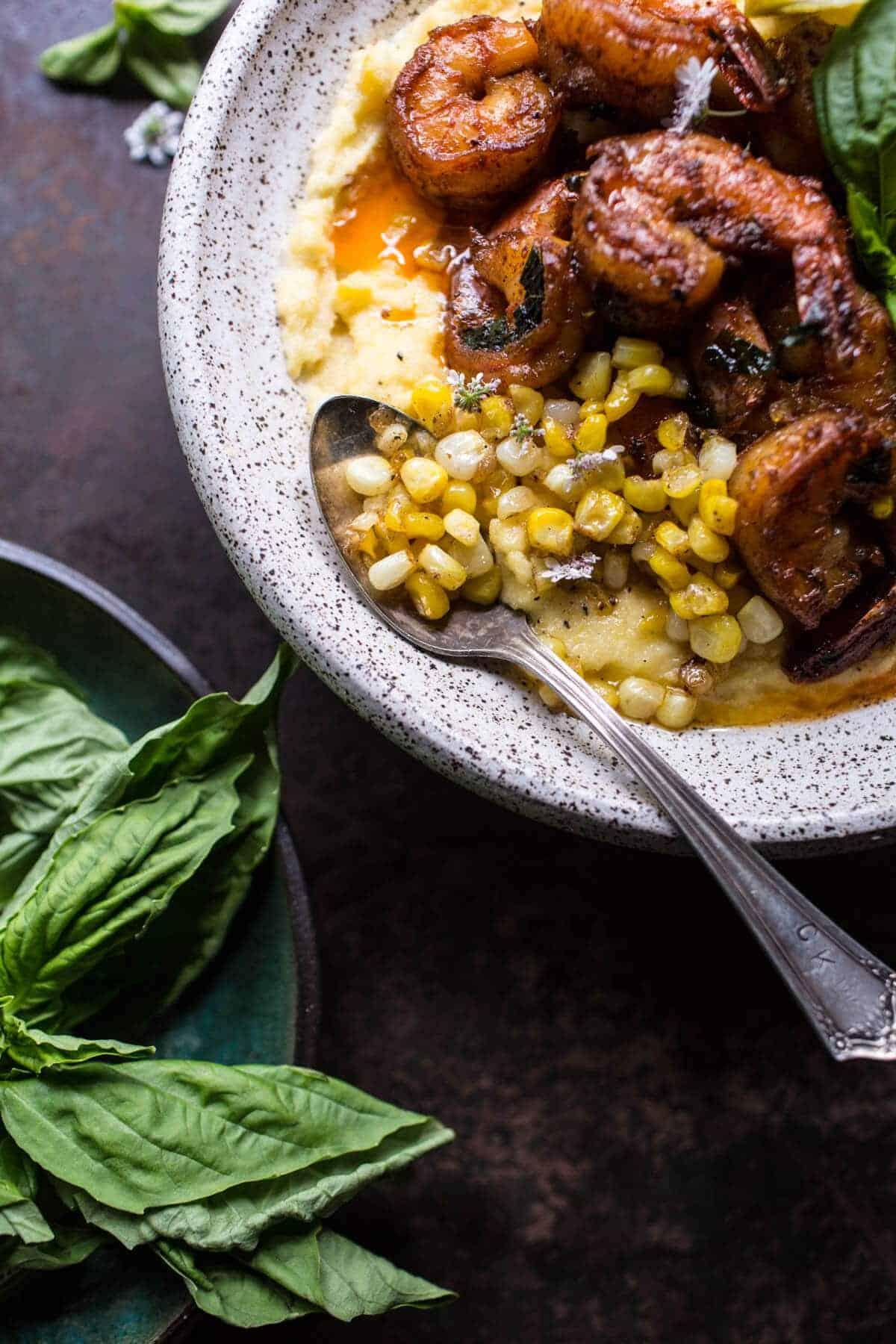 Cajun Garlic Lemon Butter Shrimp with Caramelized Corn Polenta | halfbakedharvest.com @hbharvest